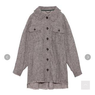 リリーブラウン(Lily Brown)のツイードシャツジャケット♡セットアップ(ブルゾン)