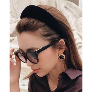 エイミーイストワール(eimy istoire)の新品♡ブラック ベロア 太い カチューシャ(カチューシャ)