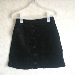 LOWRYS FARM - コーデュロイ スカート 黒