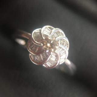 メレダイヤ指輪 k18wg ブラウン(リング(指輪))