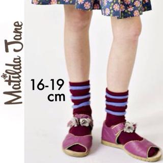 ボーデン(Boden)の新品タグ付き☆Matilda Janeソックスボルドーマチルダジェーンジンボリー(靴下/タイツ)