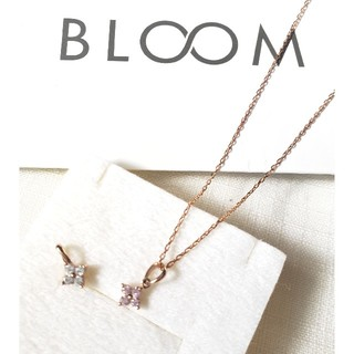BLOOM - BLOOM 新品キュービックジルコニア フラワー ネックレスPINKとクリア