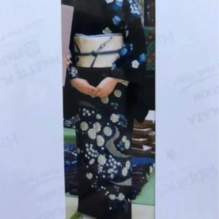 《国選定・阿波藍製造技術無形文化財》藍染(本藍)訪問着と藍染リバーシブルの袋帯(着物)