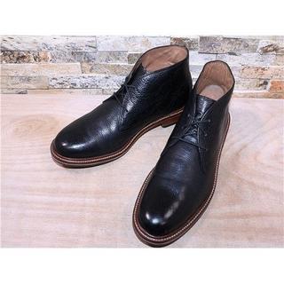 コールハーン(Cole Haan)の定価5万円 コールハーン プレーントゥチャッカブーツ 黒 2828,5cm(ブーツ)