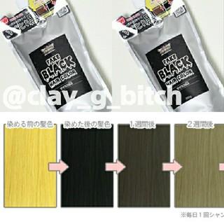 【送料無料】カラーバター/すぐ取れ黒20g 黒髪 シルバー ブラック(カラーリング剤)