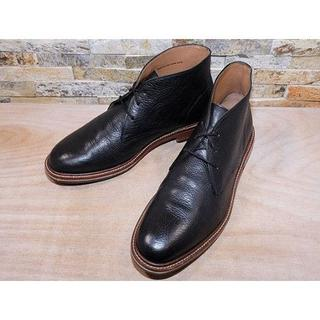 コールハーン(Cole Haan)のビックサイズ コールハーン プレーントゥチャッカブーツ 黒 2929,5cm(ブーツ)