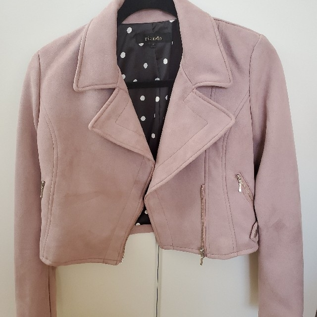rienda(リエンダ)のリエンダ rienda ライダースジャケット レディースのジャケット/アウター(ライダースジャケット)の商品写真