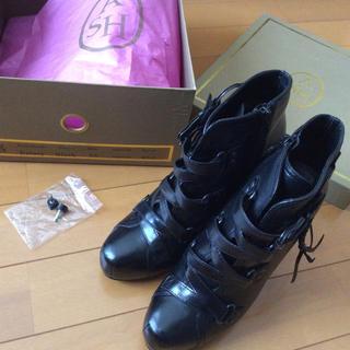 アッシュ(ASH)のASH アッシュ  レザーブーツ 黒   size36(ブーツ)