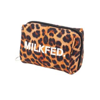 ミルクフェド(MILKFED.)のmilkfed.レオパードミニポーチ(ポーチ)