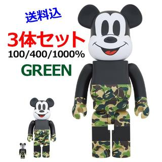 メディコムトイ(MEDICOM TOY)のBE@RBRICK BAPE MICKEY MOUSE 100/400/1000(その他)