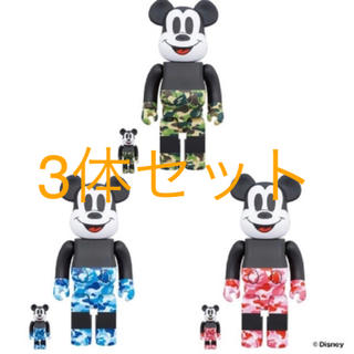 メディコムトイ(MEDICOM TOY)の BE@RBRICK BAPE MICKEY MOUSE 100% & 400%(その他)