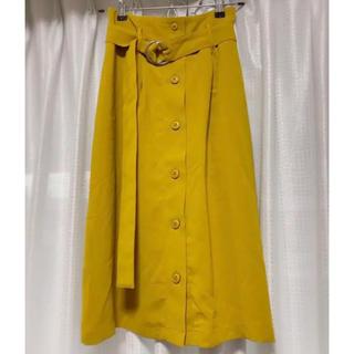 ワンウェイ(one*way)の【美品】oneway glamorous ベルト付きトレンチスカート(ロングスカート)