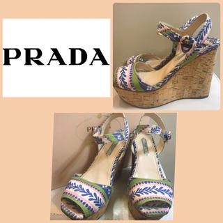 PRADA - プラダ マルチキャンバス  サンダル