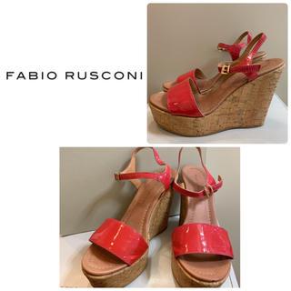 FABIO RUSCONI - ファビオルスコーニ レッドピンクレザー サンダル