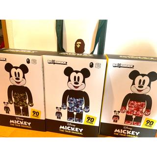 メディコムトイ(MEDICOM TOY)のベアブリック BAPE MICKEY MOUSE 100%&400% 3体セット(キャラクターグッズ)