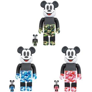 メディコムトイ(MEDICOM TOY)の3色SET BE@RBRICK BAPE(R) MICKEY 100% 400%(その他)