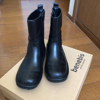 ベルメゾン(ベルメゾン)の美品* benebis  ショートブーツ 23.5cm(ブーツ)