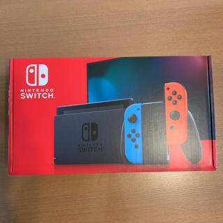 ニンテンドースイッチ(Nintendo Switch)のニンテンドースイッチ ネオンカラー 新型 未使用品 保証印あり(家庭用ゲーム機本体)