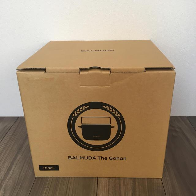 BALMUDA(バルミューダ)の【保証期間2020.11月まで】BALMUDA THE GOHAN BLACK スマホ/家電/カメラの調理家電(炊飯器)の商品写真