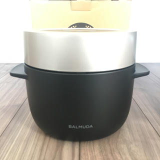 バルミューダ(BALMUDA)の【保証期間2020.11月まで】BALMUDA THE GOHAN BLACK(炊飯器)