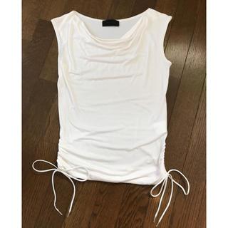 アンタイトル(UNTITLED)のUNTITLED アンタイトル ノースリーブシャツ 白色(カットソー(半袖/袖なし))