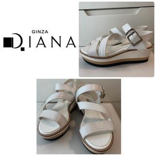 DIANA - ダイアナ ホワイトレザーサンダル