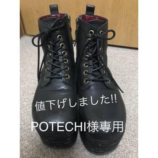ヨースケ(YOSUKE)の値下げしました!!☆YOSUKE☆中古本革レースアップブーツ☆(ブーツ)