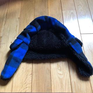 ギャップ(GAP)の帽子 耳あて付き  GAP  54-56cm  青×黒(帽子)