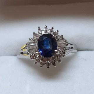 サファイアとダイアモンドの指輪 10号(リング(指輪))