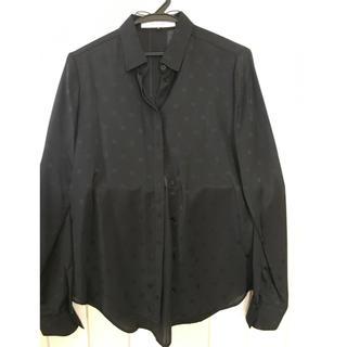ルシェルブルー(LE CIEL BLEU)のルシェルブルー ドット柄シースルーシャツ(シャツ/ブラウス(長袖/七分))