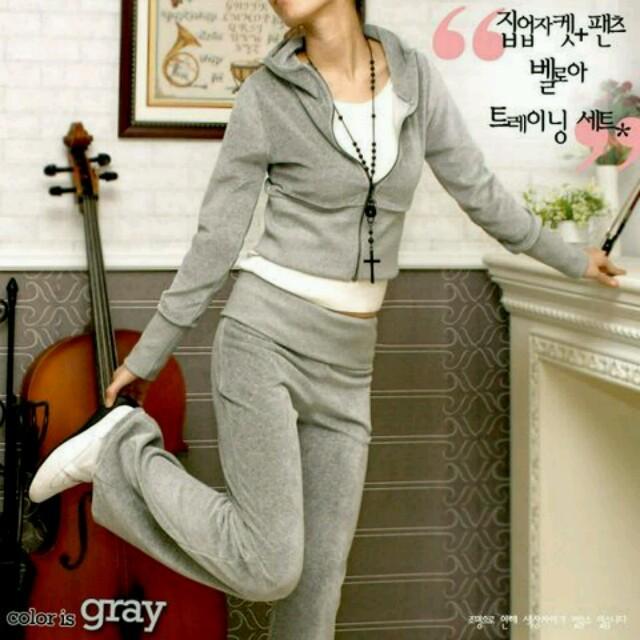 Y10900グレーL♥ルームウェア レディースのルームウェア/パジャマ(ルームウェア)の商品写真