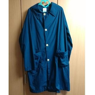 ダントン(DANTON)の美品 ダントン ナイロンタフタ コート ネイビー 40 サイズ(ステンカラーコート)
