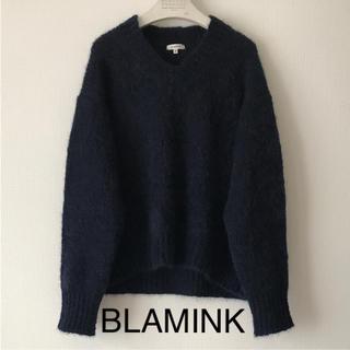 ドゥロワー(Drawer)のBLAMINK モヘアオーバーニット ネイビー (ニット/セーター)