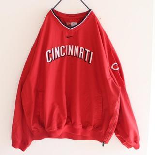 ナイキ(NIKE)のUS ナイキ MLB シンシナティ・レッズ プルオーバー ジャケット XL(ナイロンジャケット)