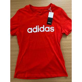 アディダス(adidas)のadidas アディダス Tシャツ レディース 赤(Tシャツ(半袖/袖なし))
