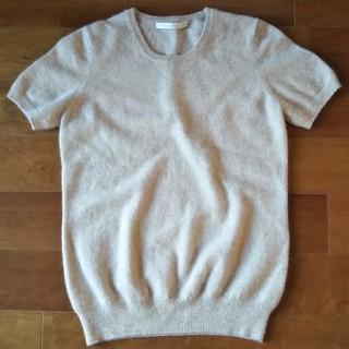 ユニクロ(UNIQLO)のいつき様専用  カシミア100% 半袖ニットセーター ベージュ (ニット/セーター)