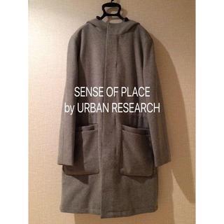 センスオブプレイスバイアーバンリサーチ(SENSE OF PLACE by URBAN RESEARCH)の【送料無料】SENSE OF PLACE メルトンフーデッドコート(その他)