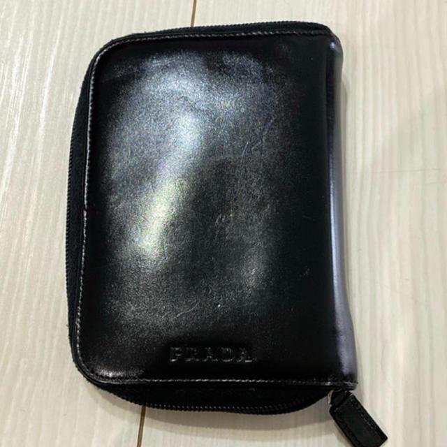 PRADA - 美品!!プラダ PRADA ラウンドジッパー手帳 ブラック メンズ レディスokの通販