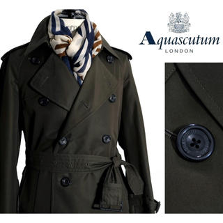 アクアスキュータム(AQUA SCUTUM)の新品 アクアスキュータム トレンチコート  メンズ トレンチ ダーバン  コート(トレンチコート)