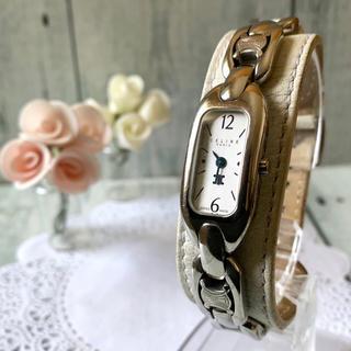 セリーヌ(celine)の【電池交換済み】セリーヌ CELINE 腕時計 レクタンギュラ 革ベルト(腕時計)