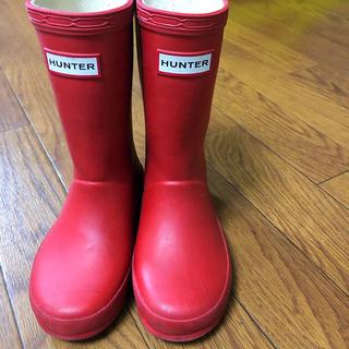 ハンター(HUNTER)のHUNTER ハンター レインブーツ 長靴 赤 15 16 キッズ(長靴/レインシューズ)
