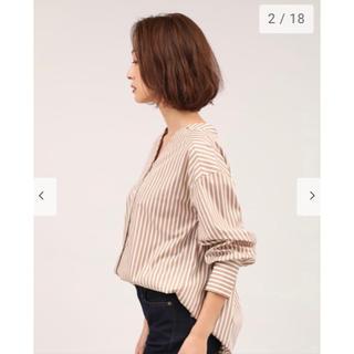プラステ(PLST)のPLST Vネック ストライプシャツ(シャツ/ブラウス(長袖/七分))