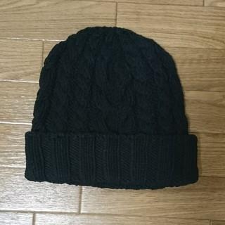 マウジー(moussy)のMOUSSYの黒ニット帽(ニット帽/ビーニー)