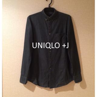 ユニクロ(UNIQLO)の【送料無料】UNIQLO +J Jil Sander デニムスリムフィットシャツ(シャツ)
