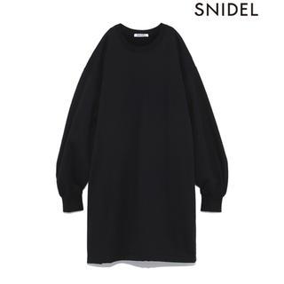 スナイデル(snidel)のSNIDEL スナイデル スウェットOP ブラック(トレーナー/スウェット)