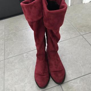 マウジー(moussy)のマウジー ブーツ 赤(ブーツ)