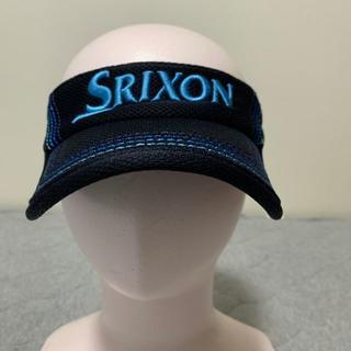 スリクソン(Srixon)のSRIXON(スリクソン) サンバイザー 黒(ブルーステッチ入り)【中古】(サンバイザー)