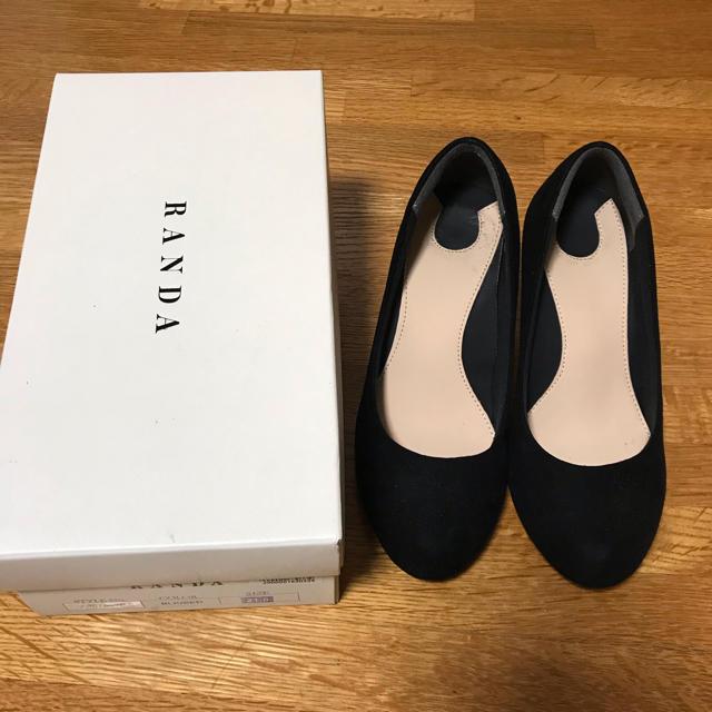 RANDA(ランダ)のRANDA 21.0 黒パンプス レディースの靴/シューズ(ハイヒール/パンプス)の商品写真