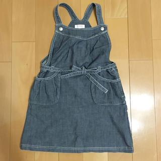 エル(ELLE)のELLE デニム ジャンパースカート 130 美品(ワンピース)