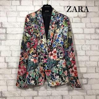 ザラ(ZARA)のZARA 花柄 ジャケット(テーラードジャケット)